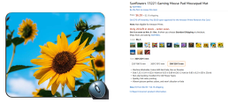 2018-10-18 12_31_52-Amazon.com _ Sunflowers 635504 Gaming Mouse Pad Mousepad Mat _ Office Products